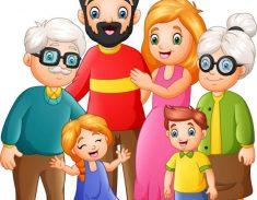 illustration of Happy family cartoon